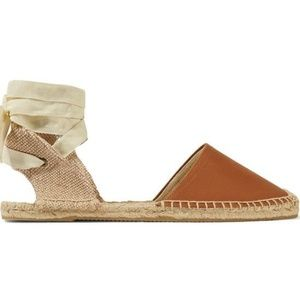 Soludos–brown leather, lace up espadrilles
